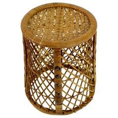 Wicker Taboret Table Emmanuelle Style