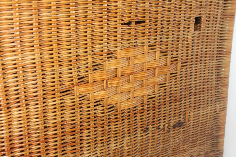 Wicker Work Table with Lift Top For Sale 2