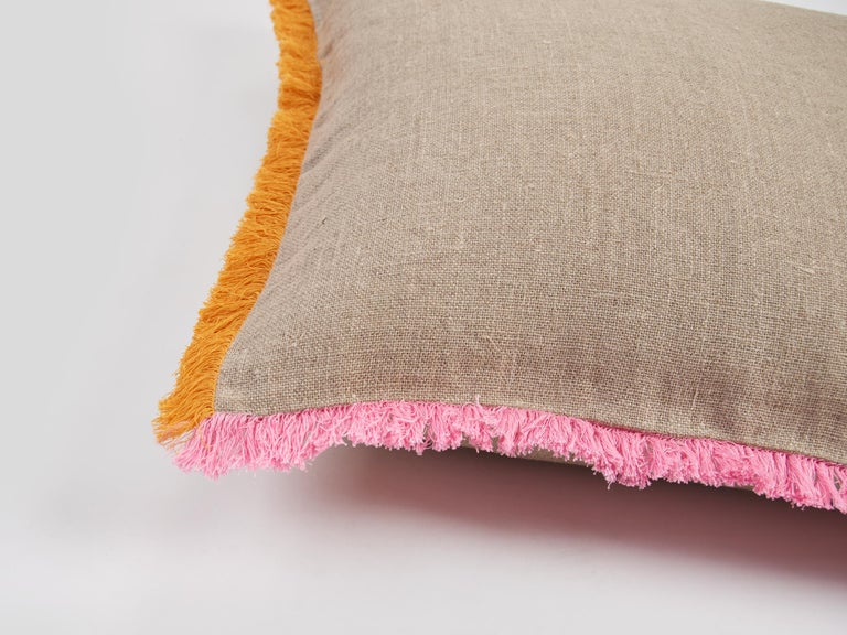 Rustic Widcombe, Hand Embroidered Cushion by Jupe by Jackie For Sale