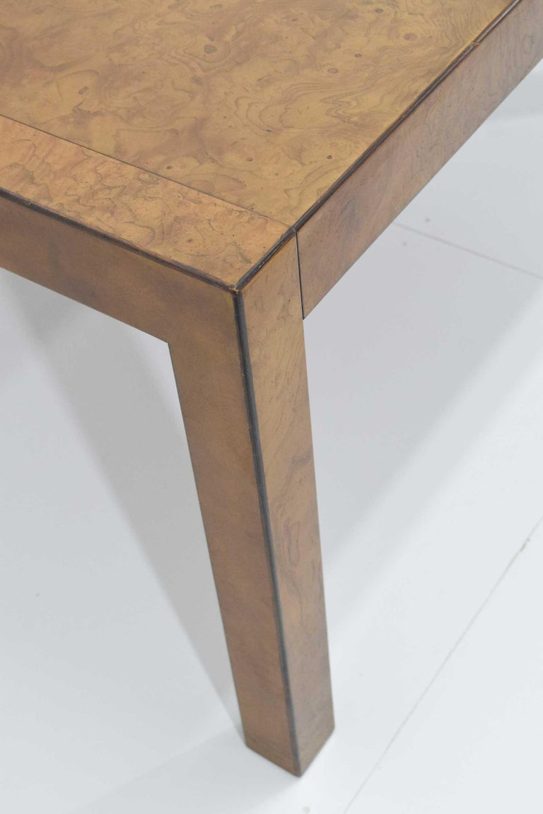 Widdicomb Burl Wood Dining Table For Sale 4
