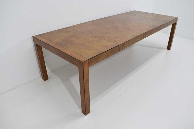 Mid-Century Modern Widdicomb Burl Wood Dining Table For Sale
