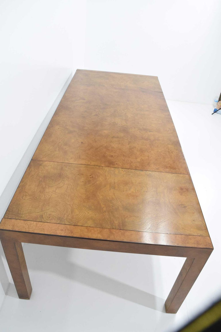 20th Century Widdicomb Burl Wood Dining Table For Sale