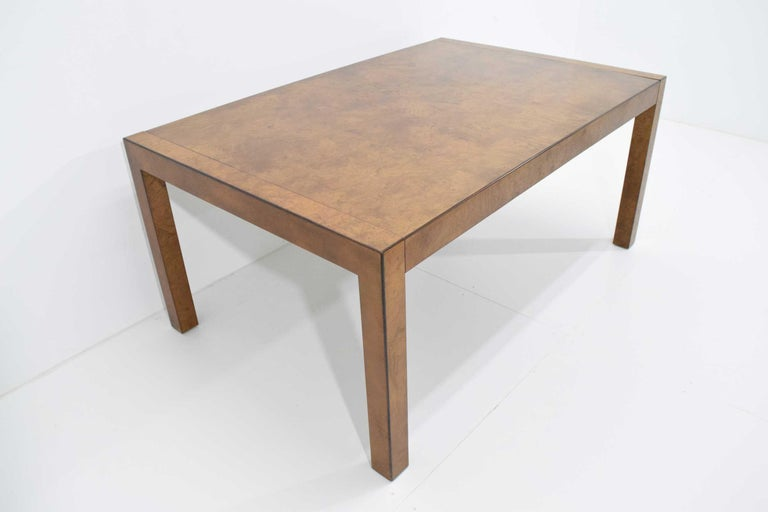 Widdicomb Burl Wood Dining Table For Sale 3