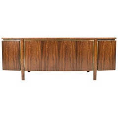 Widdicomb Credenza or Sideboard in Walnut with Parquet Patterned Top