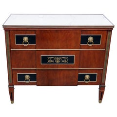 Widdicomb Directoire Style Marble Top Commode