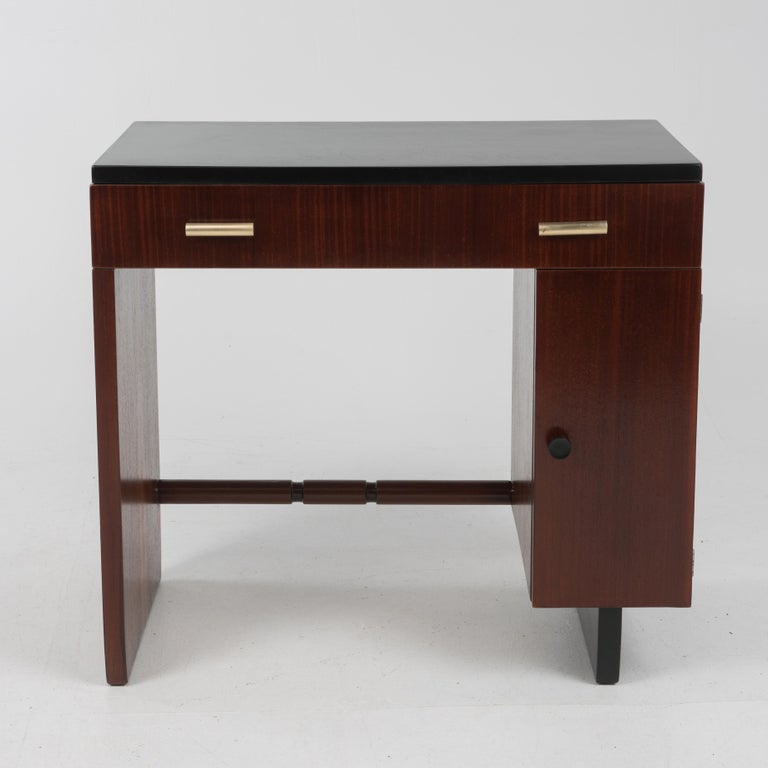 Widdicomb Dressing Table Desk Art Deco, 1930s In Good Condition For Sale In Lambertville, NJ