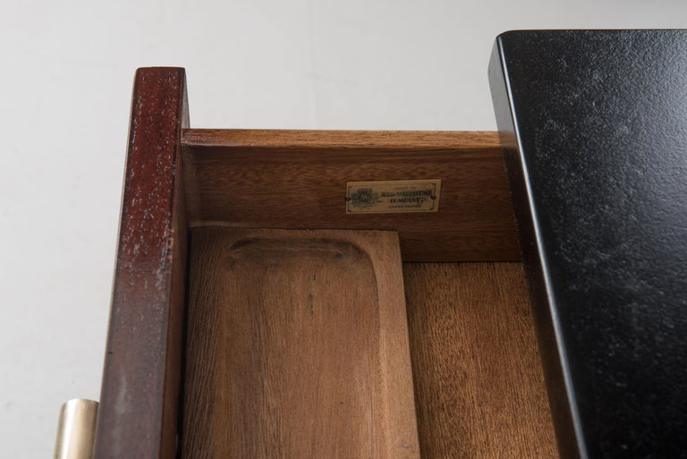Wood Widdicomb Dressing Table Desk Art Deco, 1930s For Sale