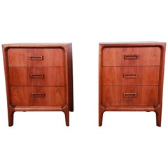 Widdicomb Mid-Century Modern Walnut Bachelor Chests or Large Nightstands