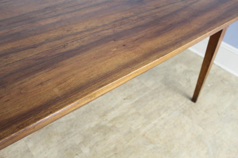 Wide Antique Walnut Dining Table, Two Drawers For Sale 5