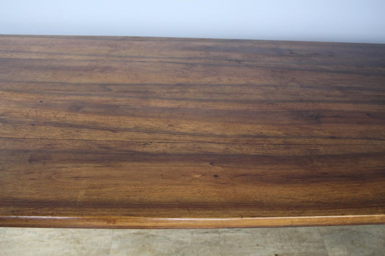Wide Antique Walnut Dining Table, Two Drawers For Sale 3