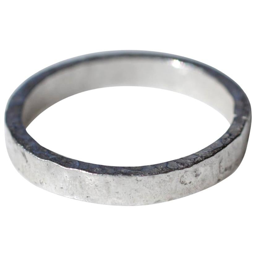 Wide Band Platinum Wedding Ring Stackable Modern Design for Man or Woman Unisex