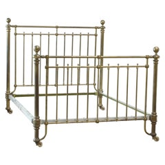 Wide Brass Antique Bed, MK165