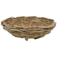 Wide Circular Artisanal Style Trellis Basket