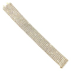 Wide Diamond Bracelet 37.50 Carat 18 Karat Yellow Gold