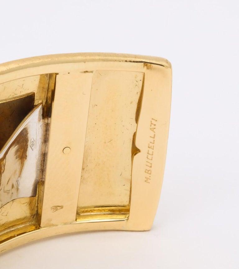 Wide Diamond Buccellati Cuff Bracelet For Sale 9