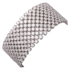 Wide Flexible Diamond Bracelet