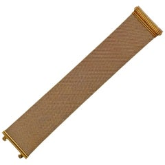 Wide Gold Mesh Bracelet