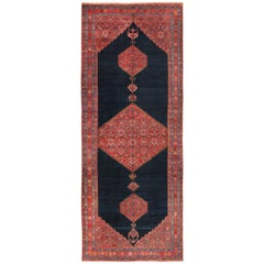 Wide Hallway Tribal Antique Persian Farahan Rug