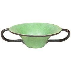 Breite Keramik-Tazza mit Henkel, von Huttopia, 1950er Jahre.