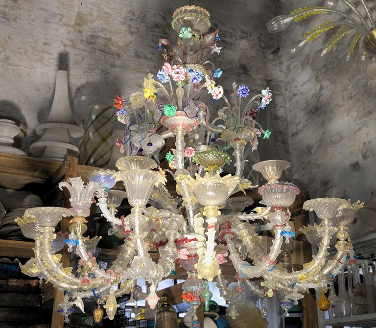 Pauly Wide Rezzonico Eclectic Chandelier 24 Arms, Unique Elements Combination  For Sale 1