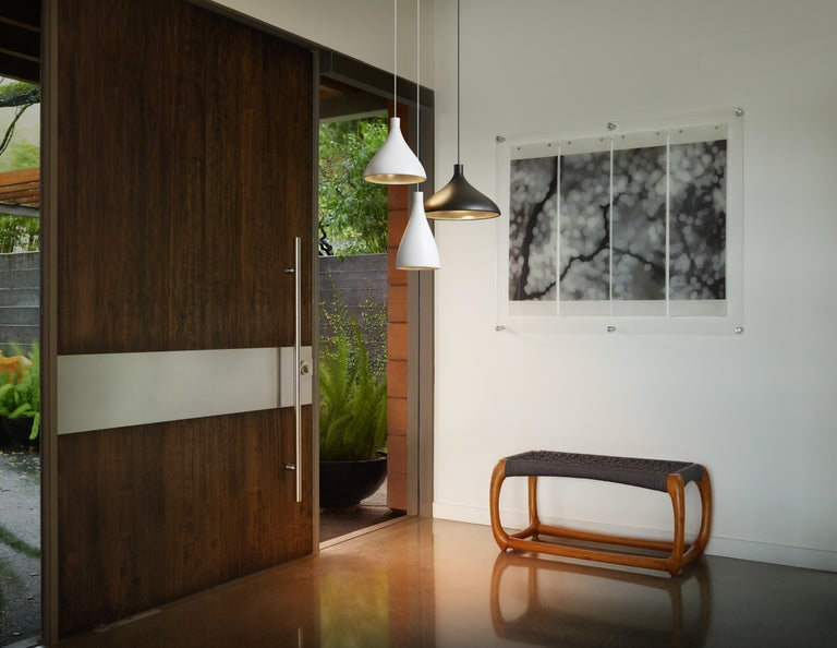 American Wide Swell String Pendant Light in Brass by Pablo Designs For Sale