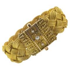 Wide Weave Design Bracelet