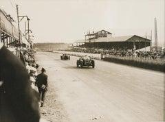 1920s Car Race in France - Silver Gelatin Black & White Photograph Framed