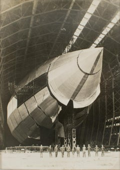 Airship R100 in Construction New York Times Silver Gelatin B & W Photograph