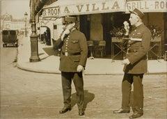 Policemen in Paris circa 1930 Silver Gelatin Black & White Photograph