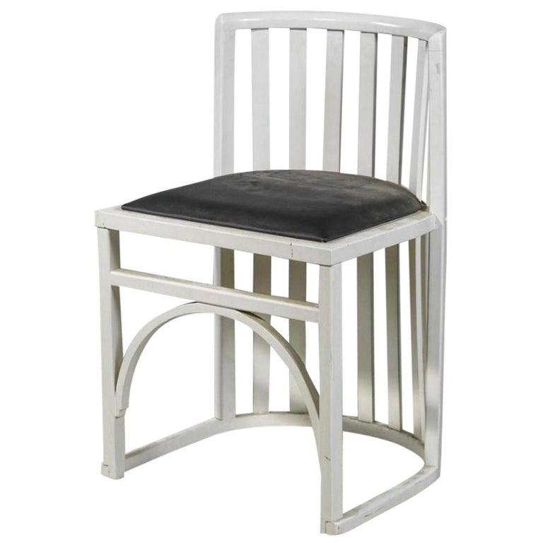 Wiener Werkstaette Attributed Early Viennese Josef Hoffmann Chair 1905, Original For Sale