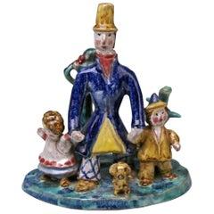 Wiener Werkstaette Ceramics Item the Walk Father Two Children Susi Singer 1921