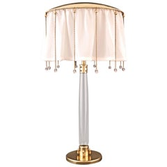 Wiener Werkstaette Silk and Glass Desk Lamp re-edition