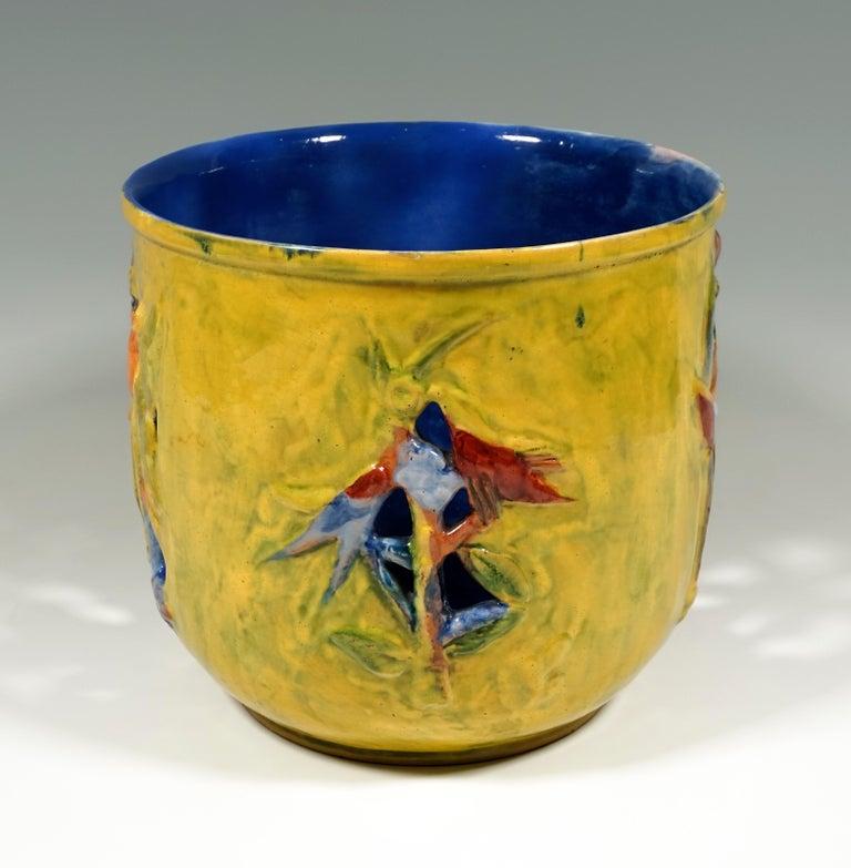 Austrian Wiener Werkstaette Expressive Ceramic Flower Pot by Susi Singer, 1922-1925 For Sale