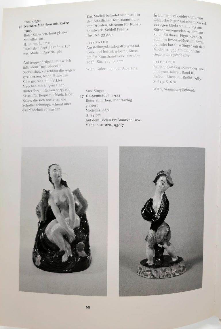 Wiener Werkstaette Expressive Vienna Ceramics Girl with Cat by Susi Singer, 1923 4