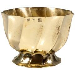 Wiener Werkstaette Hammered Brass Cigarette Bowl by Josef Hoffmann, circa 1920