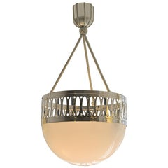 Wiener Werkstaette Pendant/Chandelier Opaline Glass Re Edition
