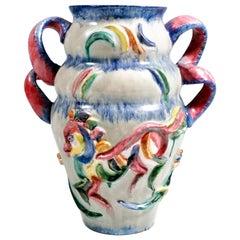 Wiener Werkstätte Art Ceramics Expressive Style Vase by Vally Wieselthier, 1922