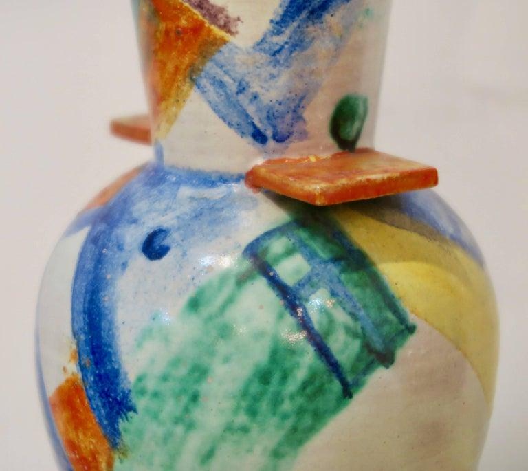 Vienna Secession Wiener Werkstätte Ceramic Vase by Gudrun Baudisch For Sale