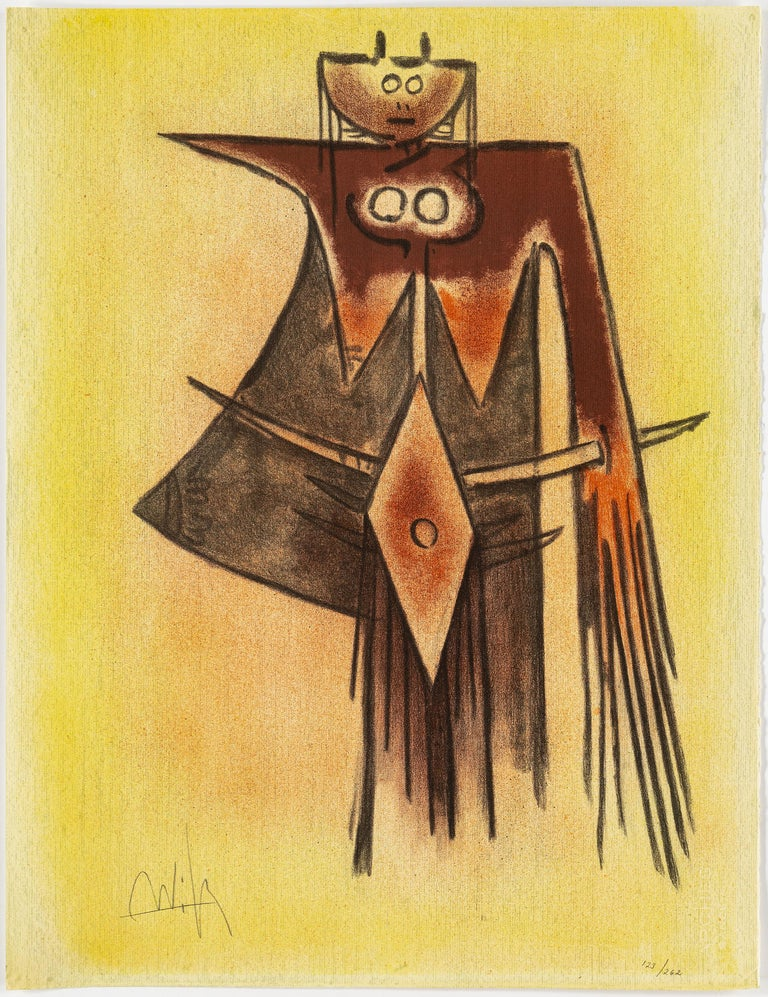 Modern Wifredo Lam, Portfolio of 10 Signed Color Lithographs, Edition 123 of 262 For Sale