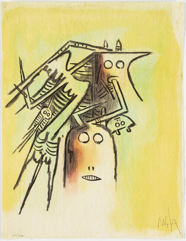 Wifredo Lam, Portfolio of 10 Signed Color Lithographs, Edition 123 of 262 In Good Condition For Sale In New York, NY