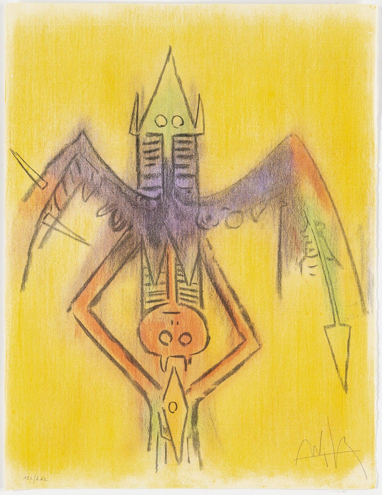 Late 20th Century Wifredo Lam, Portfolio of 10 Signed Color Lithographs, Edition 123 of 262 For Sale