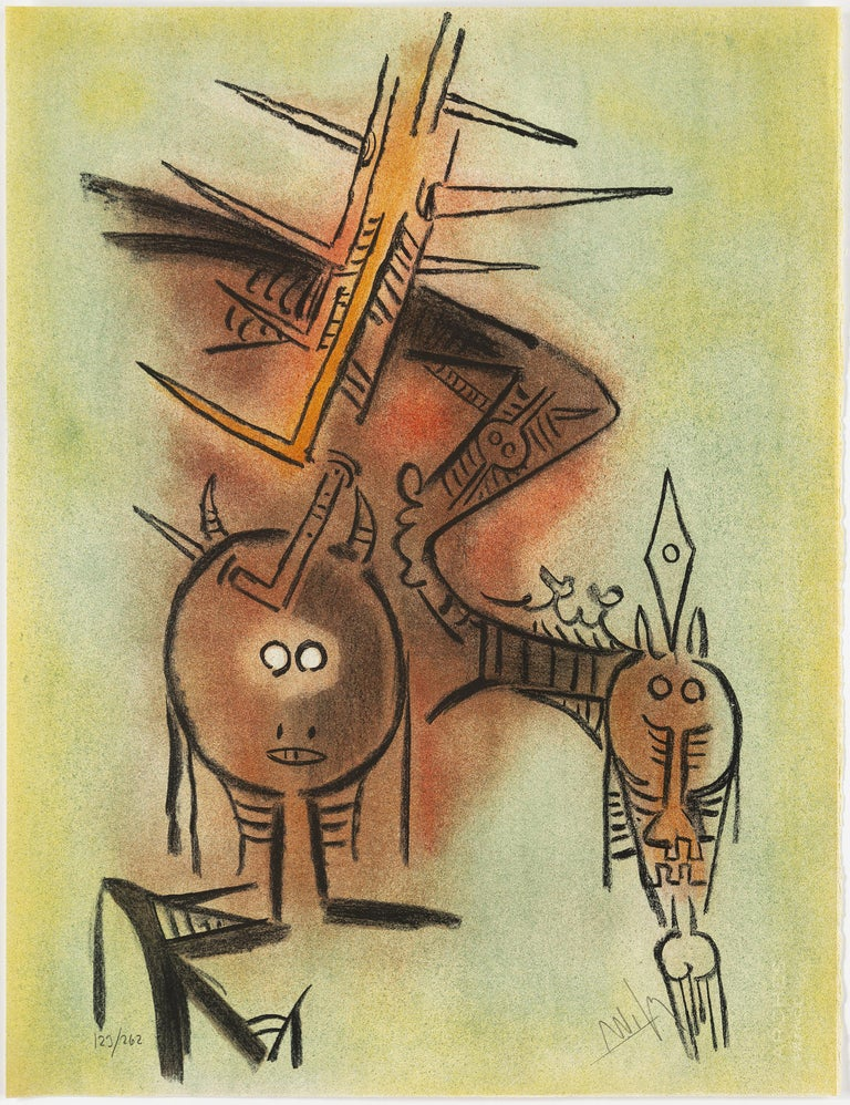 Paper Wifredo Lam, Portfolio of 10 Signed Color Lithographs, Edition 123 of 262 For Sale
