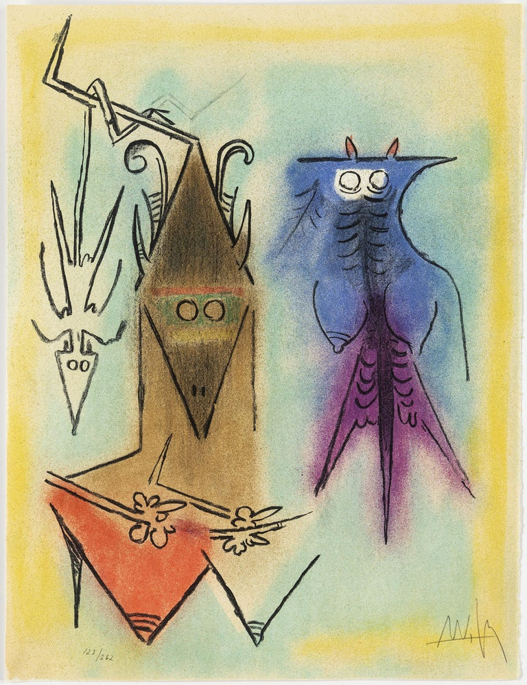Wifredo Lam, Portfolio of 10 Signed Color Lithographs, Edition 123 of 262 For Sale 1