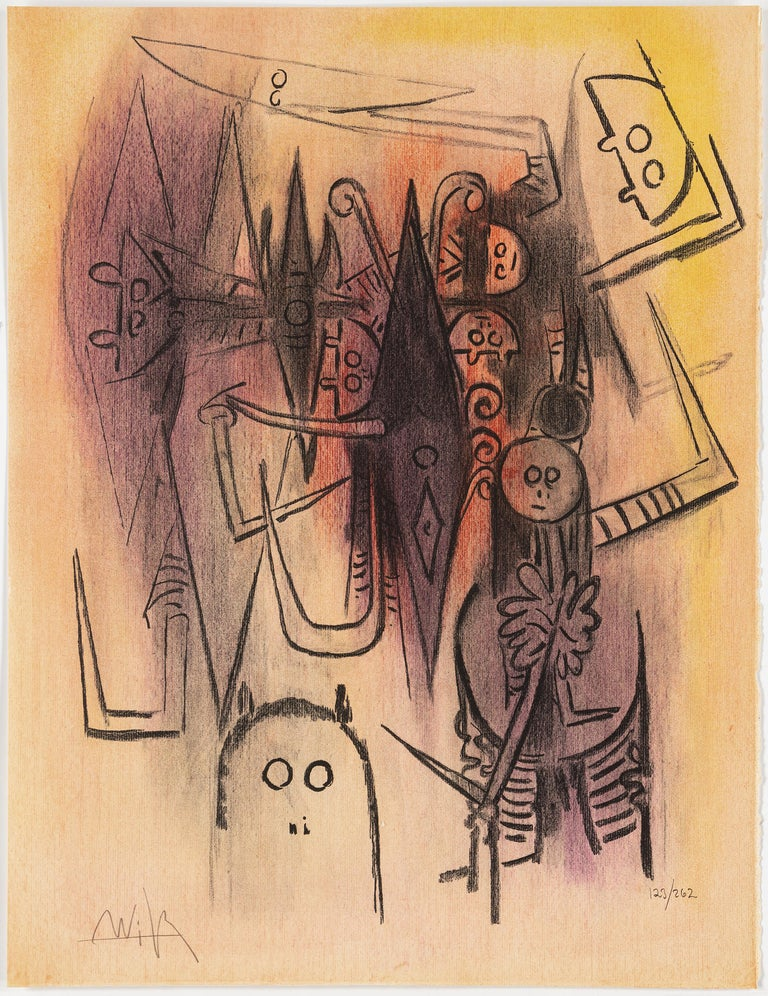 Wifredo Lam, Portfolio of 10 Signed Color Lithographs, Edition 123 of 262 For Sale 2