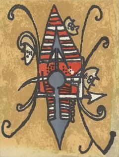 1975 Wifredo Lam 'Oiseau du Possible' Contemporary France Lithograph