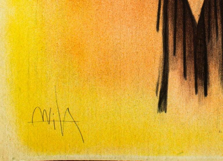 Demoiselle Blasonnée - Original Lithograph by Wifredo Lam - 1974 For Sale 1