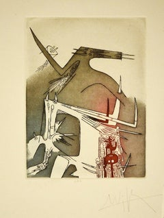 Fantastic Composition - Original Etching by Wifredo Lam -