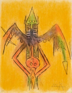 Innocence, from Pleni Luna Serie colorful lithograph by Wifredo Lam