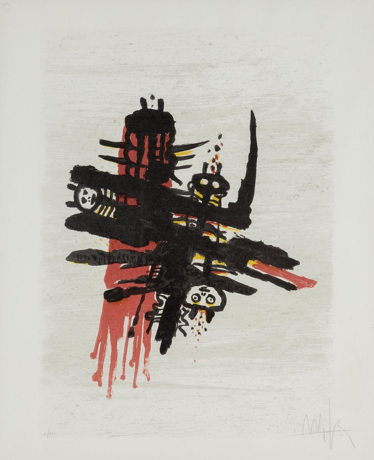 Artist: Wifredo Lam, Cuban (1902 - 1982) Title: Orsa Maggiore Year:  1976 Medium: Lithograph, signed and numbered in pencil Edition: X/XXV Paper Size: 31.5 x 25.5 in. (80.01 x 64.77 cm)