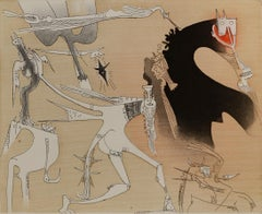 WIFREDO LAM, Lames de Lam 3, 1977 catalogue raisonne 368 etching aquatint cuban